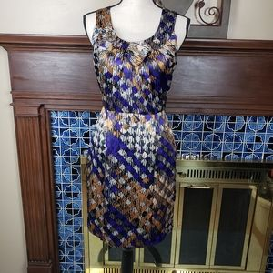 Banana Republic Purple Gold Fitted Dress